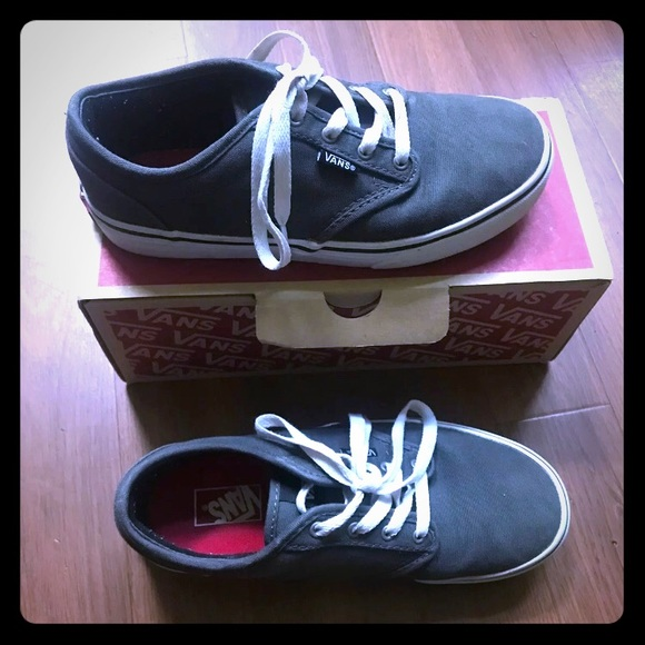grey vans shoes size 4